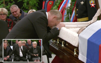 Putin weeps over coffin of friend killed in drills…