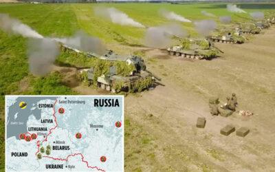 Putin launches massive military drills…