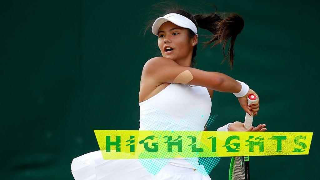 Highlights: Emma Raducanu beats Leylah Fernandez at Wimbledon 2018
